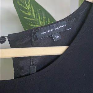 Universal Standard Lined Black Dress w/ Tie